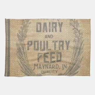 Las aves de corral de la lechería de los granjeros toallas de cocina