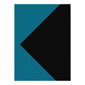 Las azules turquesas colorean solamente tarjetas invitación 13,9 x 19,0 cm