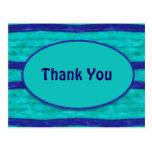 Las azules turquesas le agradecen postal