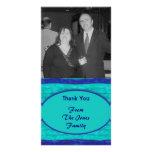 Las azules turquesas le agradecen tarjeta personal