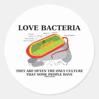 Las bacterias del amor crían a menudo solamente pegatina redonda