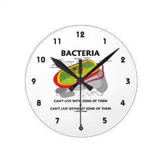 Las bacterias no pueden vivir con algunos de ellos reloj redondo mediano