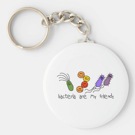 Las bacterias son mis amigos llavero redondo tipo pin