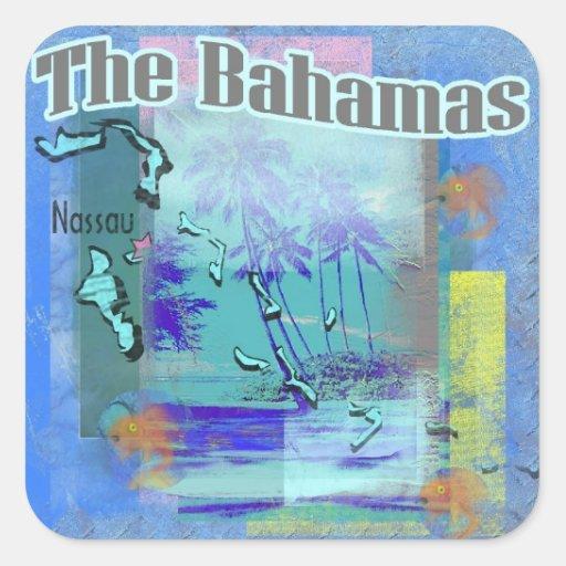 Las Bahamas Pegatina Cuadrada