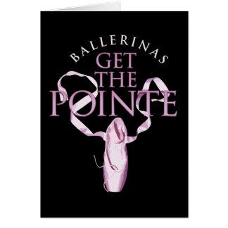 Las bailarinas consiguen el Pointe Felicitación