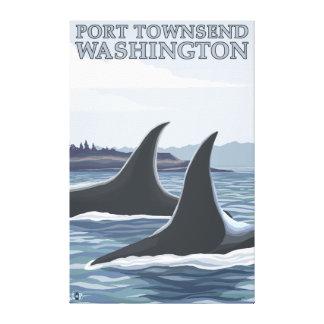 Las ballenas #1 de la orca - vire a Townsend hacia Impresion De Lienzo