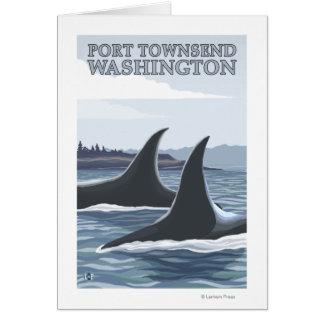 Las ballenas #1 de la orca - vire a Townsend hacia Tarjetón