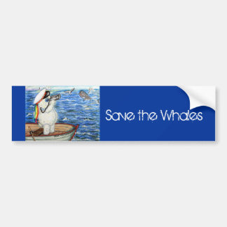 Las BALLENAS de POOKY, ahorran las ballenas Pegatina Para Auto