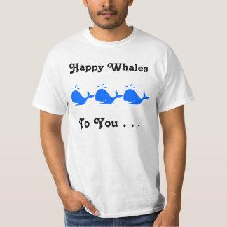 Las ballenas felices a usted juntan con te polera