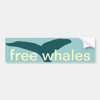 las ballenas pegatina para auto