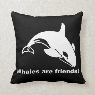 Las ballenas son amigos almohadas