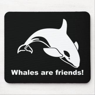 Las ballenas son amigos tapete de ratón