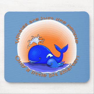 Las ballenas son como productos de la gente tapete de raton
