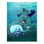 ¡Las ballenas son furiosas! Postal