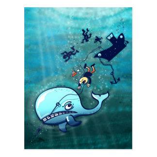 ¡Las ballenas son furiosas! Tarjeta Postal