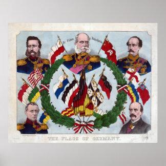 Las banderas de Alemania Póster
