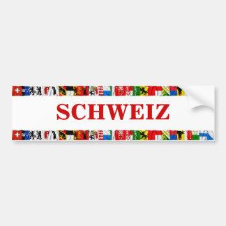 Las banderas de los cantones de Suiza, alemanes Pegatina Para Auto