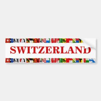 Las banderas de los cantones de Suiza Pegatina Para Auto