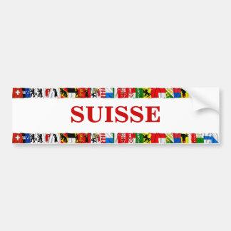 Las banderas de los cantones de Suiza, franceses Pegatina Para Auto