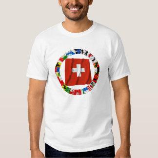 Las banderas de los cantones de Suiza Remeras