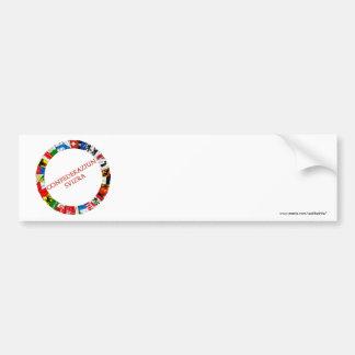 Las banderas de los cantones de Suiza, romance Pegatina Para Auto