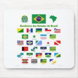 Las banderas del Brasil Tapete De Ratón