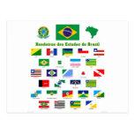 Las banderas del Brasil Tarjetas Postales