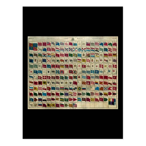 Las banderas navales de Bowles del mundo Postal