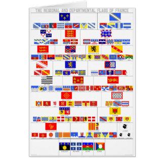 Las banderas regionales y departamentales de Franc Tarjeta