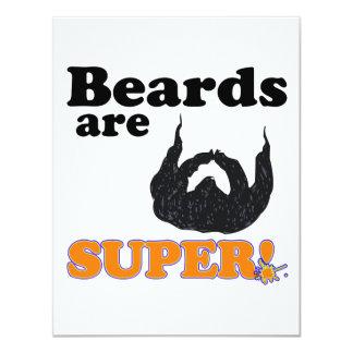 "las barbas son estupendas invitación 4.25"" x 5.5"""