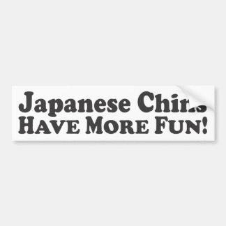 ¡Las barbillas japonesas se divierten más! - Pegat Pegatina Para Auto