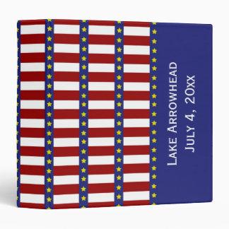 """Las barras y estrellas personalizaron el libro de carpeta 1 1/2"""""""