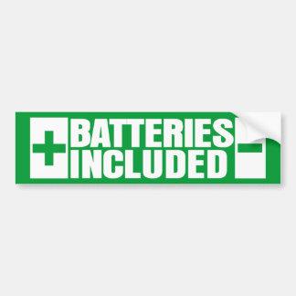 Las baterías incluyeron el coche híbrido pegatina de parachoque