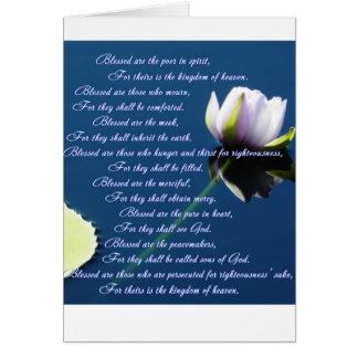 Las beatitudes tarjeta de felicitación