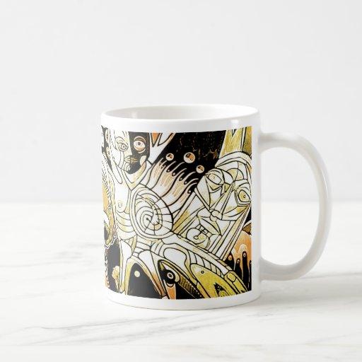 las bebidas espirituosas del arteology taza de café