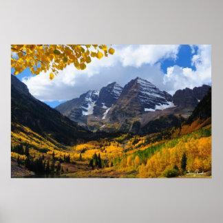Las Belces marrón en oro del otoño Impresiones
