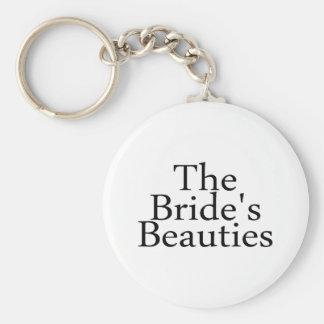 Las bellezas 2 de las novias llavero redondo tipo pin