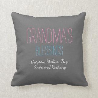Las bendiciones de la abuela con la almohada de cojín decorativo