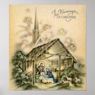 Las bendiciones de la escena de la natividad del n posters