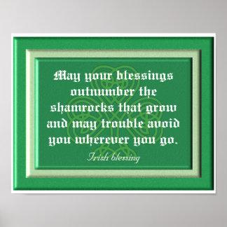 Las bendiciones exceden en número los tréboles - póster