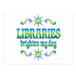 Las bibliotecas aclaran mi día postales