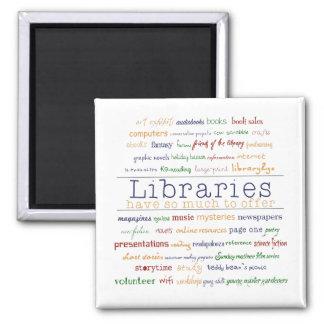 Las bibliotecas - cambie el color imán cuadrado