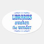 Las bibliotecas despiertan colcomanias ovaladas