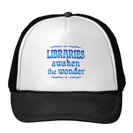 Las bibliotecas despiertan gorros