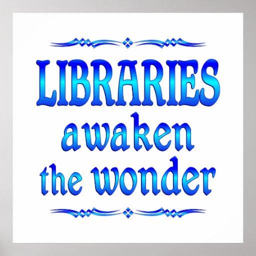 Las bibliotecas despiertan impresiones