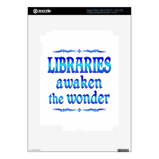 Las bibliotecas despiertan iPad 3 skins