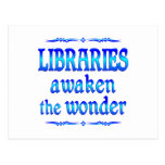 Las bibliotecas despiertan tarjeta postal