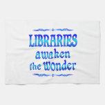 Las bibliotecas despiertan toalla de cocina