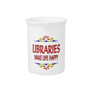 Las bibliotecas hacen vida feliz jarrones