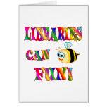 Las bibliotecas son diversión felicitación